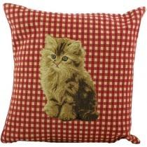 gobelin kissen katze braun getigert. Black Bedroom Furniture Sets. Home Design Ideas