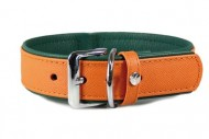 Hundehalsband Milano Orange / Forest